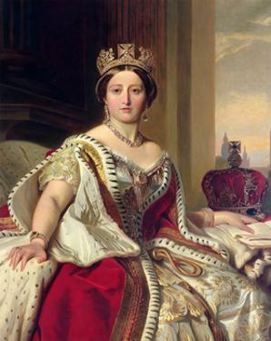 Queen Victoria, 1859 by Franz Xaver Winterhalter
