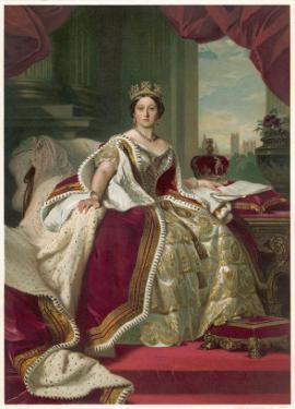 Queen Victoria Circa 1845 by Franz Xaver Winterhalter
