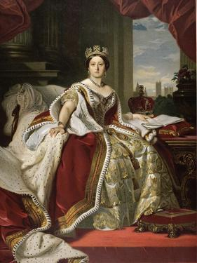 Queen Victoria of England in Her Coronation Robes by Franz Xaver Winterhalter