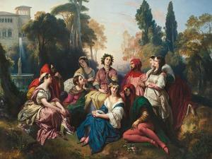 The Decameron, 1837 by Franz Xaver Winterhalter