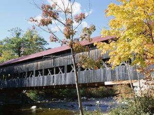 Albany Covered Bridge Over Swift River, Kangamagus Highway, New Hampshire, USA by Fraser Hall