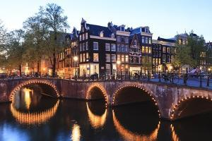 Amsterdam Canals at Dusk by Fraser Hall