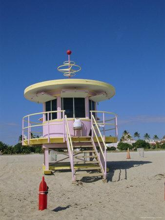 Art Deco Lifeguard Station, South Beach, Miami Beach, Florida, USA