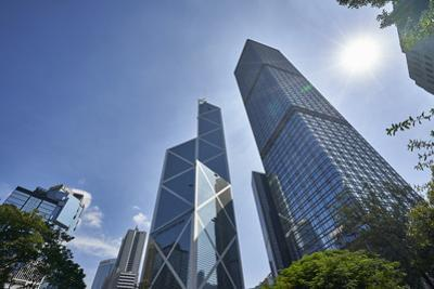 Bank of China Building and Cheung Kong Centre towers in Central, Hong Kong Island's financial distr by Fraser Hall