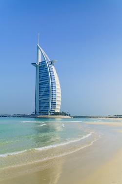 Burj Al Arab Hotel, Iconic Dubai Landmark, Jumeirah Beach, Dubai, United Arab Emirates, Middle East by Fraser Hall