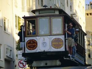 Cable Car on Hyde Street, San Francisco, California, USA by Fraser Hall