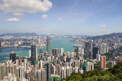 City skyline, viewed from Victoria Peak, Hong Kong, China, Asia by Fraser Hall