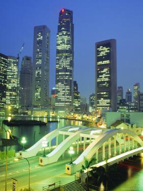 Elgin Bridge and Skyline of the Financial District, Singapore by Fraser Hall