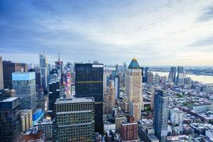 Manhattan skyline from Times Square to the Hudson River, New York City, United States of America, N by Fraser Hall
