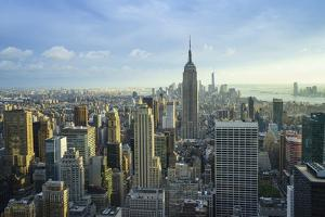 Manhattan Skyline with the Empire State Building, New York City by Fraser Hall