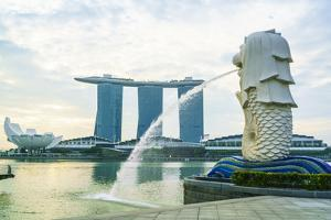Merlion Statue, the National Symbol of Singapore and its Most Famous Landmark, Merlion Park by Fraser Hall