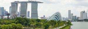 Panoramic View Overlooking the Gardens by the Bay, Marina Bay Sands and City Skyline, Singapore by Fraser Hall