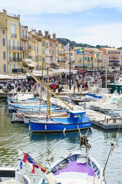 Quai Jean Jaures, Saint-Tropez, Var, Cote d'Azur, Provence, France, Mediterranean, Europe by Fraser Hall