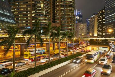 Rush hour traffic in Central, Hong Kong Island, Hong Kong, China, Asia by Fraser Hall