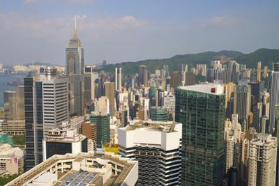 Skyscrapers on Hong Kong Island, Hong Kong, China, Asia by Fraser Hall