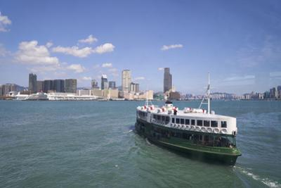 Star Ferry sailing towards the Kowloon side of Victoria Harbour, Hong Kong, China, Asia by Fraser Hall