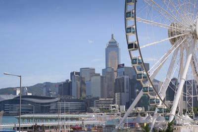 The Hong Kong Observation Wheel, Victoria Harbour, with the International Convention Centre, Hong K by Fraser Hall