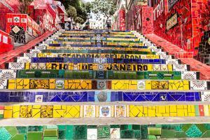 Escadaria Selaron, Rio De Janeiro, Brazil by Frazao