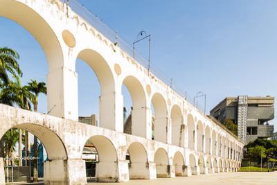 Lapa Arch - Arcos Da Lapa, Rio De Janeiro, Brazil by Frazao