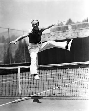 Fred Astaire Jumped Over Tennis Net in Black and White by J Miehle