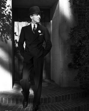 Fred Astaire on Stairs in Black Suit and Tie by J Miehle