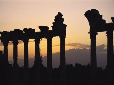 Columns in Public Building, Probably the Court of Justice, Baalbek, Lebanon, Middle East