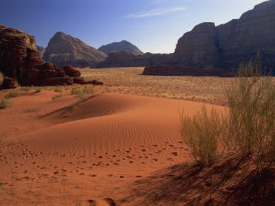 Desert at Wadi Rum, Jordan, Middle East by Fred Friberg