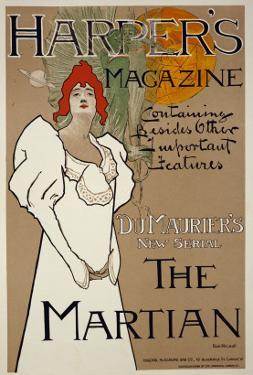 Cover Illustration for 'Harper's' Magazine Featuring 'The Martian' by Dumaurier, 1898 by Fred Hyland