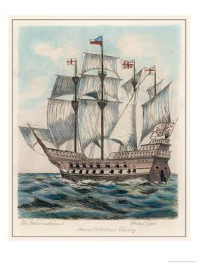 The Ship of Sir Francis Drake Formerly Named Pelican by Fred Law