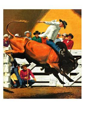 """Bull Riding,"" July 21, 1945 by Fred Ludekens"