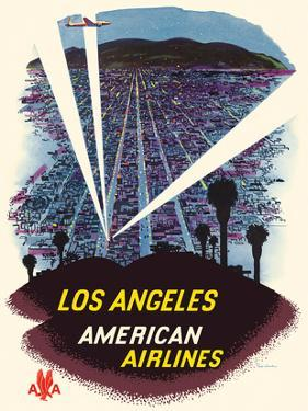 Los Angeles - Hollywood, California - American Airlines by Fred Ludekens