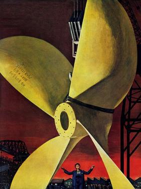 """Ships Propeller,"" February 26, 1944 by Fred Ludekens"