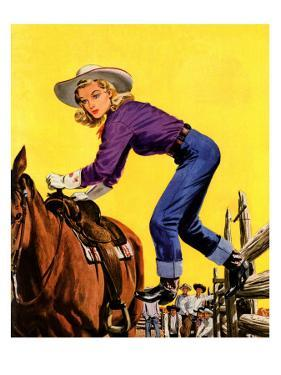"""Woman at Dude Rance,"" June 20, 1942 by Fred Ludekens"