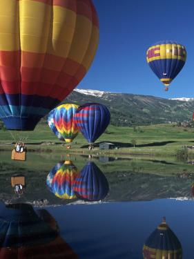 Hot Air Balloons, Snowmass, CO by Fred Luhman