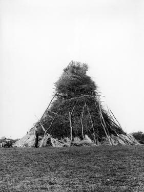Huge Bonfire 1938 by Fred Musto