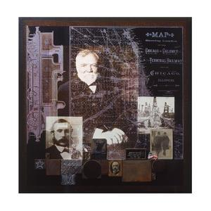 A Collage Depicts Famous American Businessmen by Fred Otnes