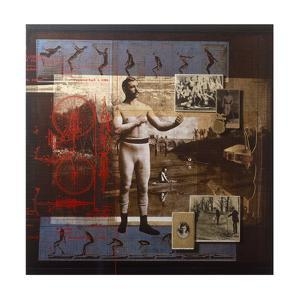A Collage Depicts Famous Sports Figures from the Twentieth-Century by Fred Otnes