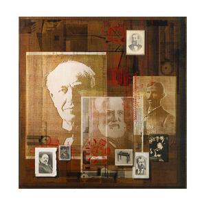 A Collage of Portraits of Inventors by Fred Otnes