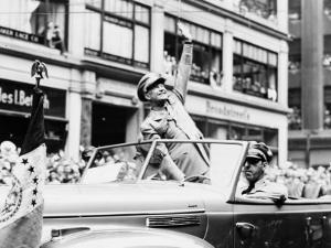 General Dwight D. Eisenhower in Parade, 1945 by Fred Palumbo