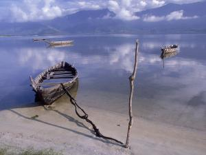 Rowboats, Danang, Vietnam by Fred Scribner