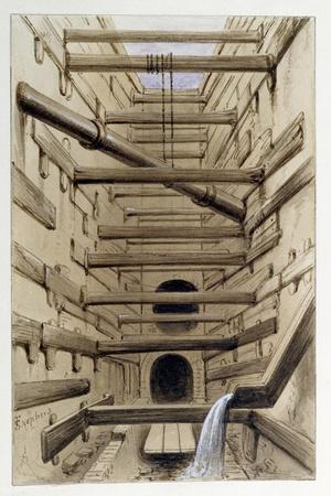 Interior of Fleet Street Sewer, 1845