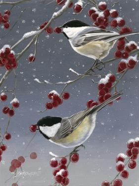 Winter Chickadees II by Fred Szatkowski