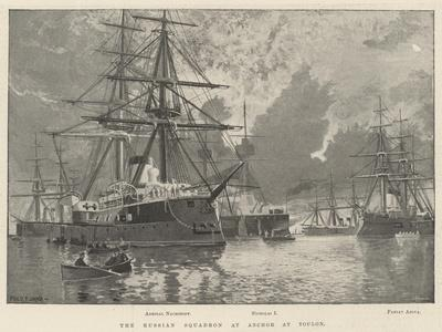 The Russian Squadron at Anchor at Toulon