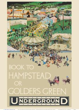 To Hampstead or Golders Green, England - London Underground (The Tube) by Fred Taylor