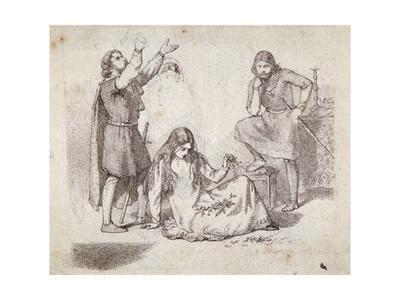 'A Medieval Scene', 19th century
