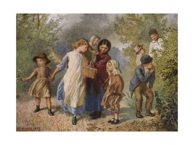 'Blackberrying', 1859, (1938)