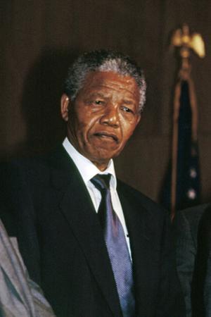 Nelson Mandela by Fred Watkins