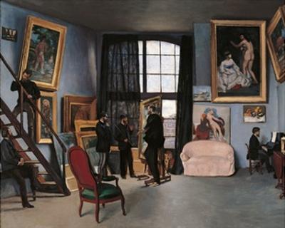 Artists Studio, Rue de la Condamine by Frederic Bazille