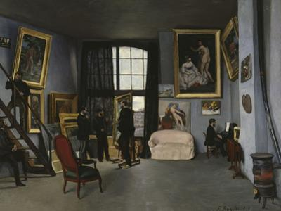 Bazille's Studio, c.1870 by Frederic Bazille
