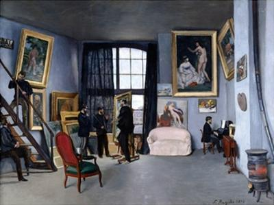 Bazille's Studio by Frederic Bazille